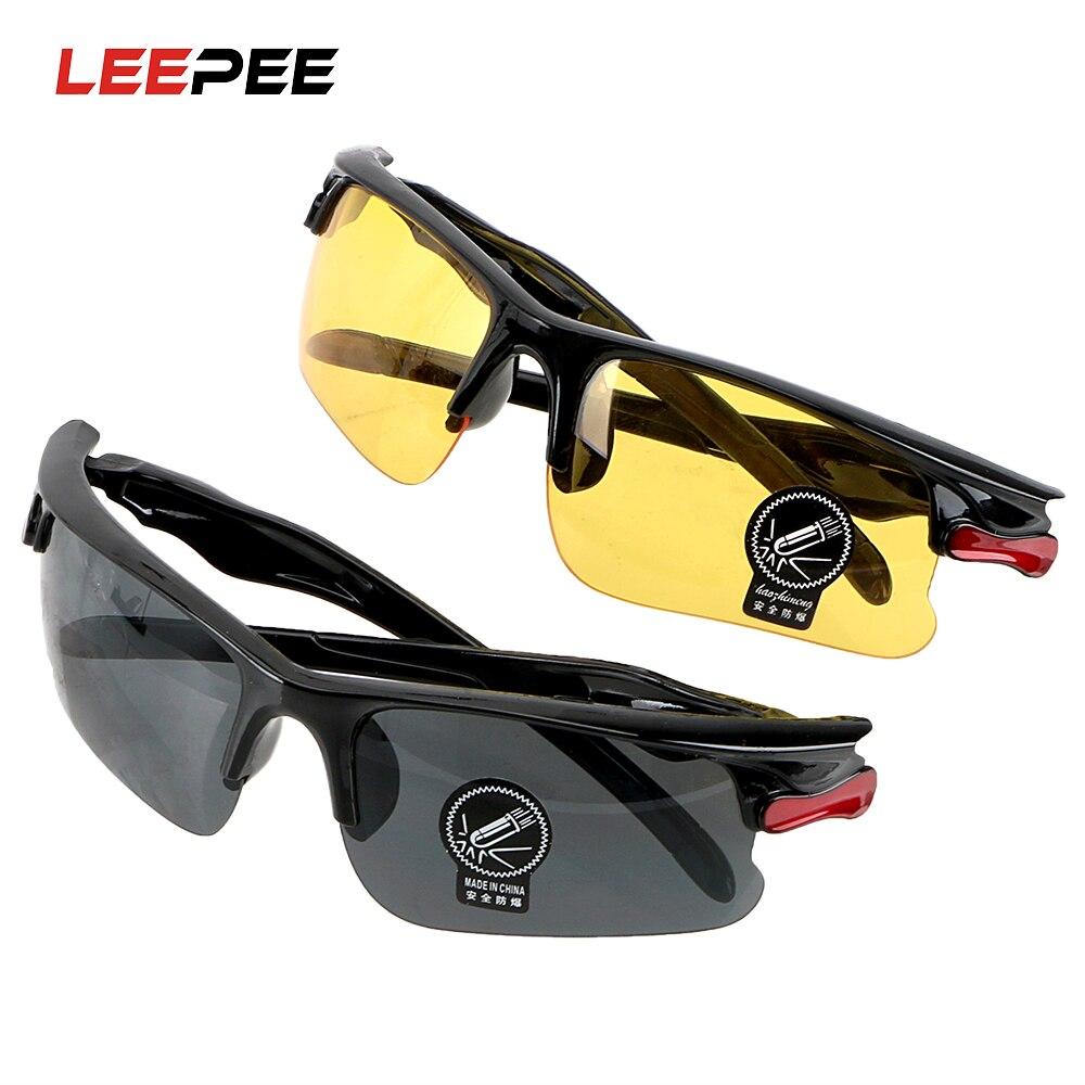 Leepee visão noturna motoristas óculos de condução óculos de proteção engrenagens óculos de sol óculos de visão noturna