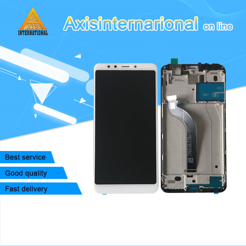Axisinternational For 5 7 Xiaomi Redmi 5 LCD screen display Touch panel Digitize with frame For