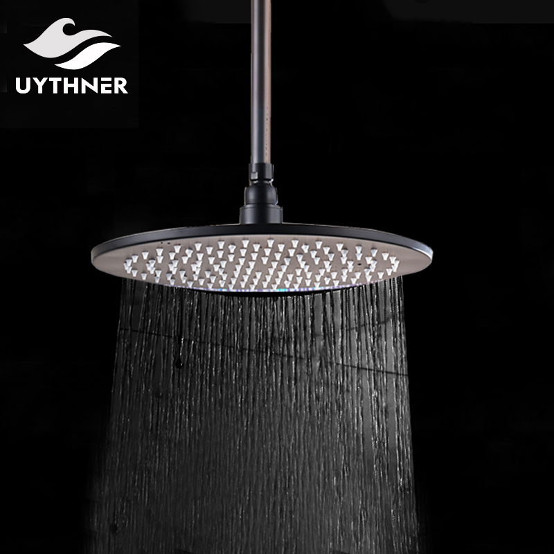 Uythner New Style 16 Inch Oil Rubbed Bronze Rainful Shower Head with Shower Arm Factory Direct Sales flg new modern accessories european style oil rubbed bronze copper toothbrush tumbler
