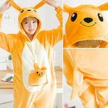 2019 New Winter Animal Pajamas Flannel Warm Pyjamas Women Cute Cosplay Panda Sleepwear Unisex Adult Hooded Onesie