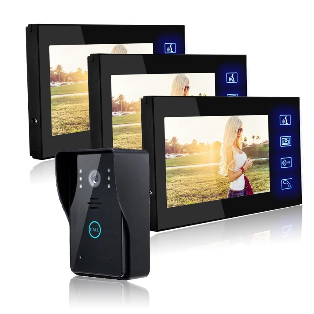 מערכת אינטרקום טלפון דלת וידאו 7 אינץ - בטיחות וביטחון