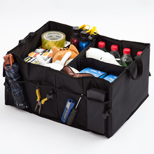 Automotive trunk organizer field folding storage bag black oxford automobile organiser for auto equipment stowing tidying collapsible luggage