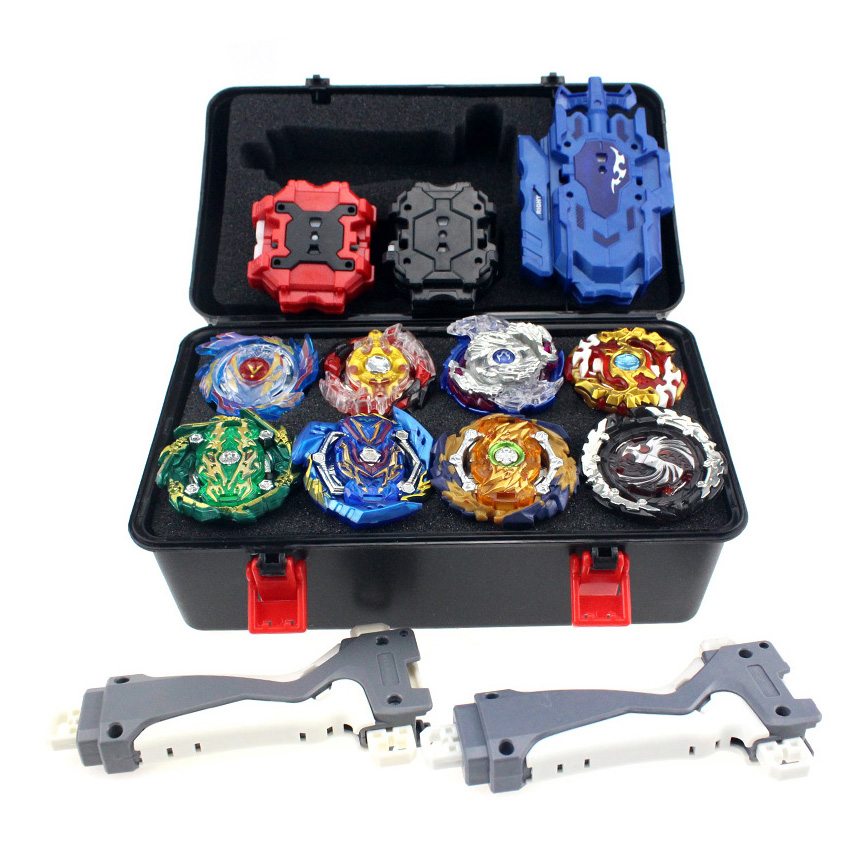 Top Beyblade Burst Bey Blade Toy Metal Funsion Beyblade Set Storage Box With Handle Launcher Plastic Box Toys For Children