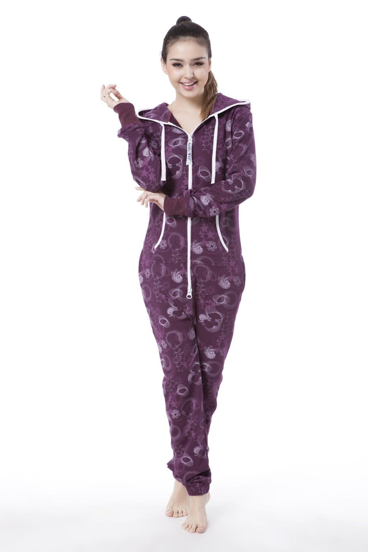 Nordic Way Fashion One Piece Jumpsuit Printed Flower Women Romper Unisex Playsuit Onesie