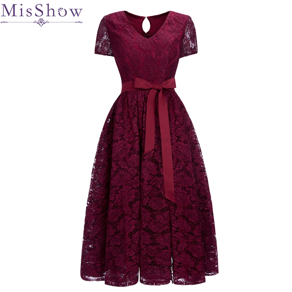 In Stock Burgundy Cocktail Dresses with Sash Elegant Short Homecoming Dress Wine Red Formal Dress Women Chic New Short Prom Gown