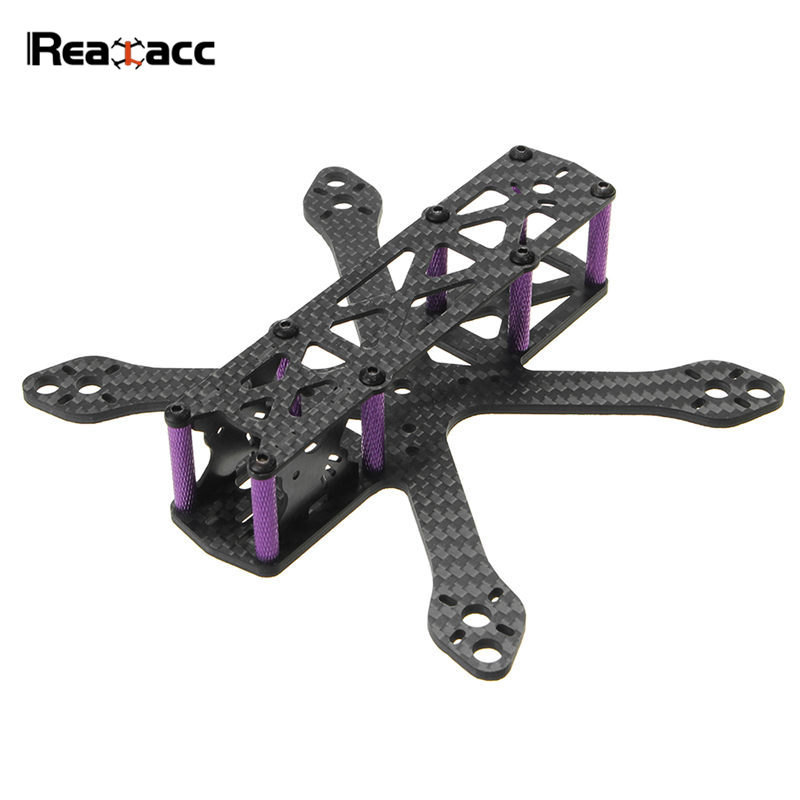 Realacc Martian II 140mm Wheelbase 3mm Arm Carbon Fiber Frame Kit For RC Multicopter Models FPV Racing DIY Part Accessories miko rhino3 150mm wheelbase 3 inch 6mm arm carbon fiber molded integrated rc fpv racing frame kit for diy multicopter drone part