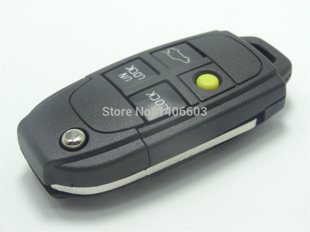 Reemplazo Shell Cubierta de la caja fit para Volvo 4 botón Flip remoto clave en