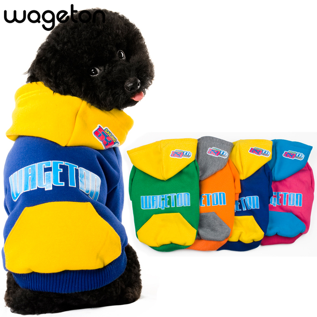 0234c80668cd New WAGETON Designer Dog Clothes Wholesale And Retail Pet Puppy Cat Coat  Hoodie Sweater T-Shirt Costumes -4 Colors Apparel