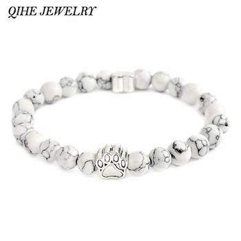 Charm Stone Bracelet Pet Memorial Cat Dog Lovers Jewelry For Men and Women