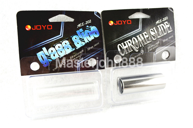 JOYO ACE 202 220 Guitar Chrome Stainless Steel Metal Slide Glass Slide For Acoustic Electric Guitar