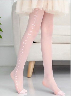 Шелковые колготки для маленьких девочек; колготки для малышей; летняя детская одежда - Цвет: Розовый