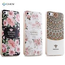 Чехол для iPhone 5S SE дизайнерские Роскошные Стильный силиконовый корпуса Крышка для iPhone 5 модные цветочные милые ТПУ Coque для iphone 5S