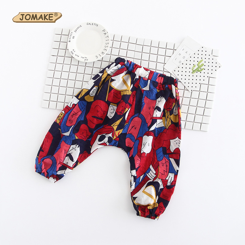 Cartoon Girls Pants Summer India Style Baby Girl Harem Pants Boy Children Ankle-Length Trousers Casual Costume For Kids Clothing