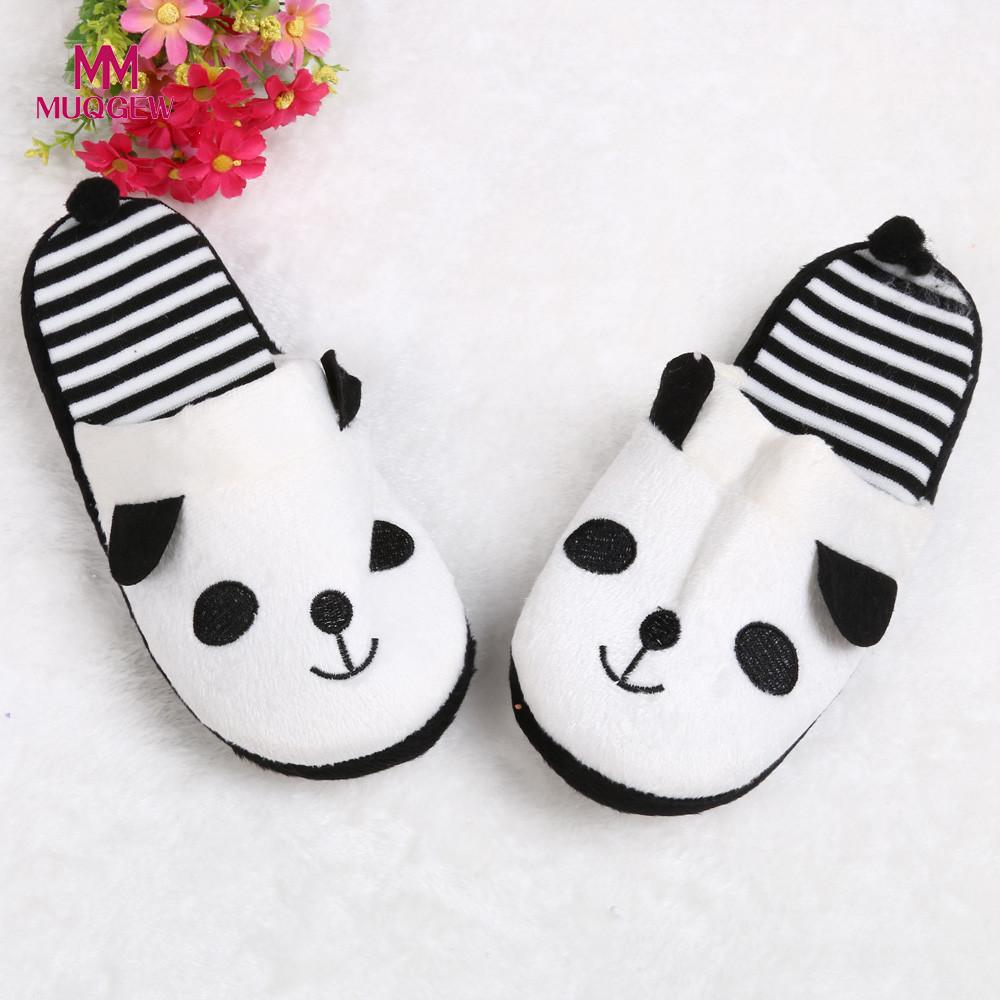 Lovely Cartoon Panda Flip Flop Home Floor Soft Stripe Slippers Female Shoes 36-40 2018 New Flat Shoes Zapatillas de mujer aroma diffuser 130ml