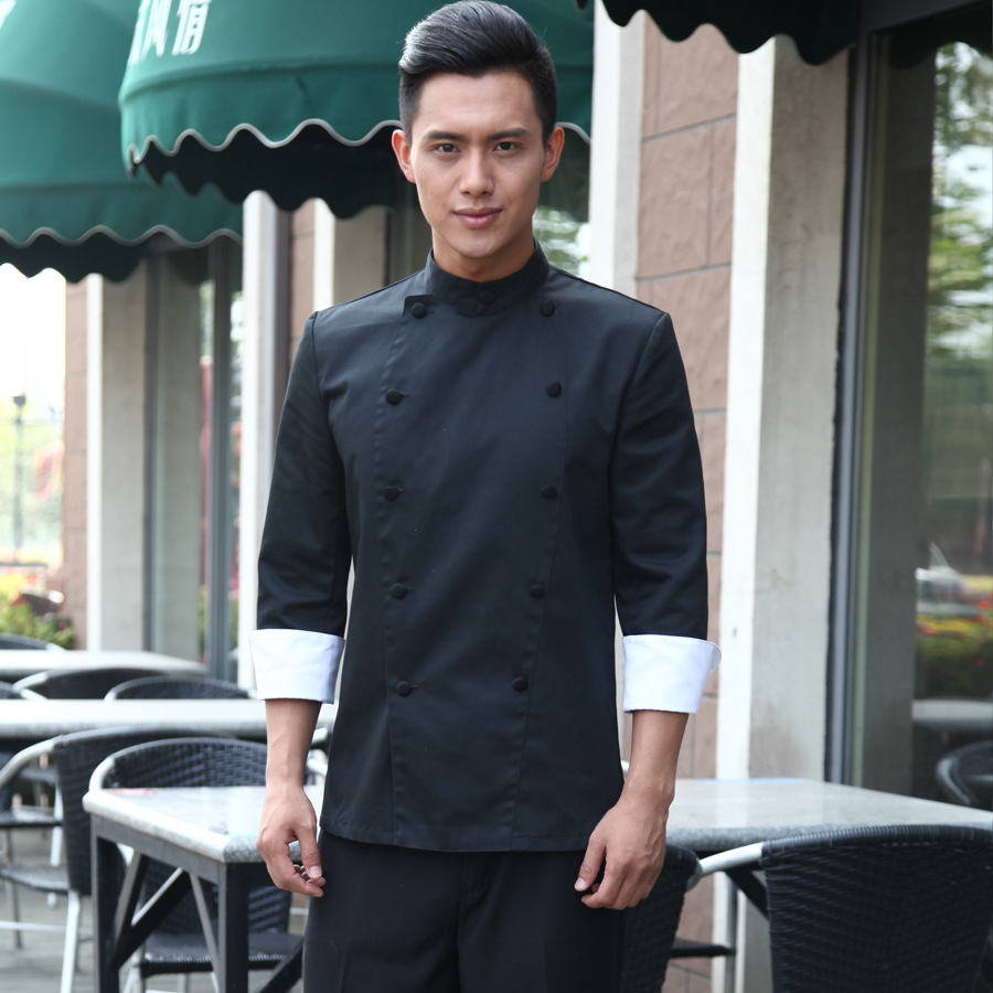 bcee7792397 Plus Size Long Sleeve Hotel Chef Uniform Chef Jacket Wear Double Breasted Chef  Clothing White Chinese Style Cooking Work Wear 18