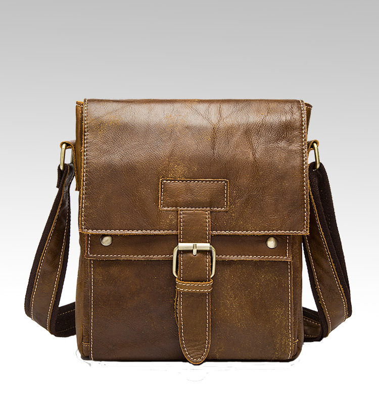 Objective Brand Genuine Leather Bag Mens Messenger Bag Gentleman Business Bag Real Leather Men Crossbody Bag Brand Small Fashion Handbags Bright And Translucent In Appearance Home