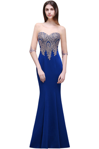 Image 5 - Robe de Soiree Longue Cheap Lace Half Sleeve Mermaid Burgundy Evening Dress Sexy Sheer Back Appliques Evening Gowns