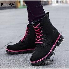 8b1ddfb68 Plus tamaño de nieve tobillo de las mujeres botas de invierno botas  plataforma plana de piel de felpa caliente zapatos de mujer .
