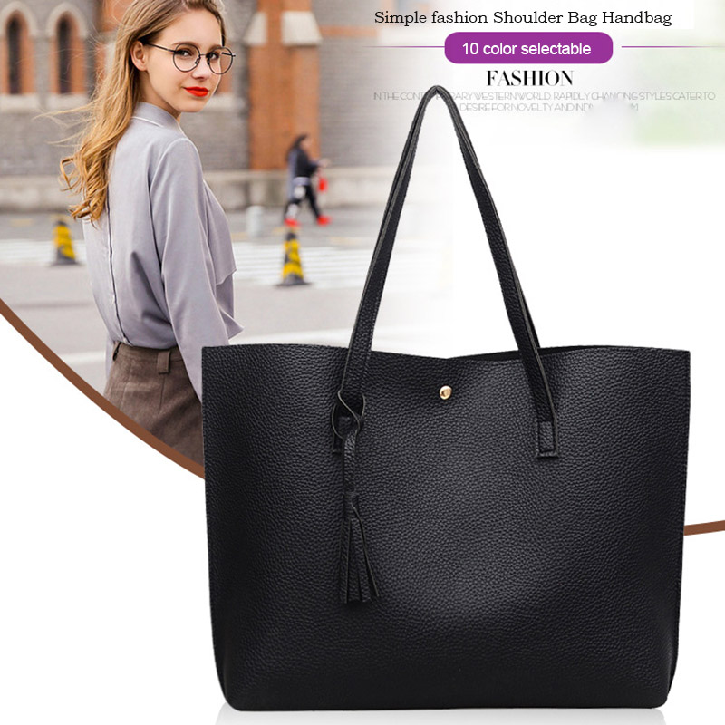 High Quality Fringe Handbags Shoulder Bag Simple Fashion PU Large Capacity Ladies Handbags Bags Popular
