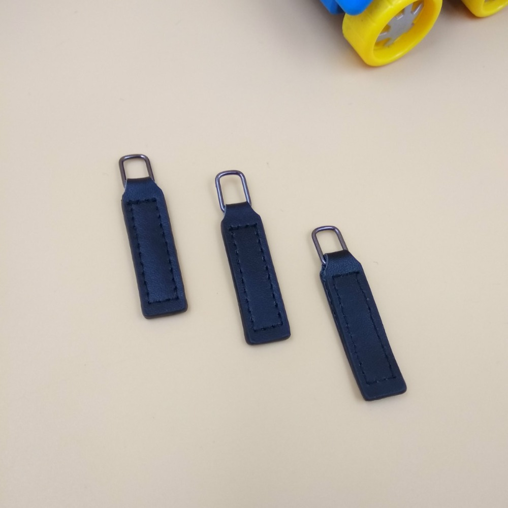 Leather jacket zip repair - New For 5 8 Black Leather Zipper Puller 5pcs Repair Diy Wallet Bags Jacket