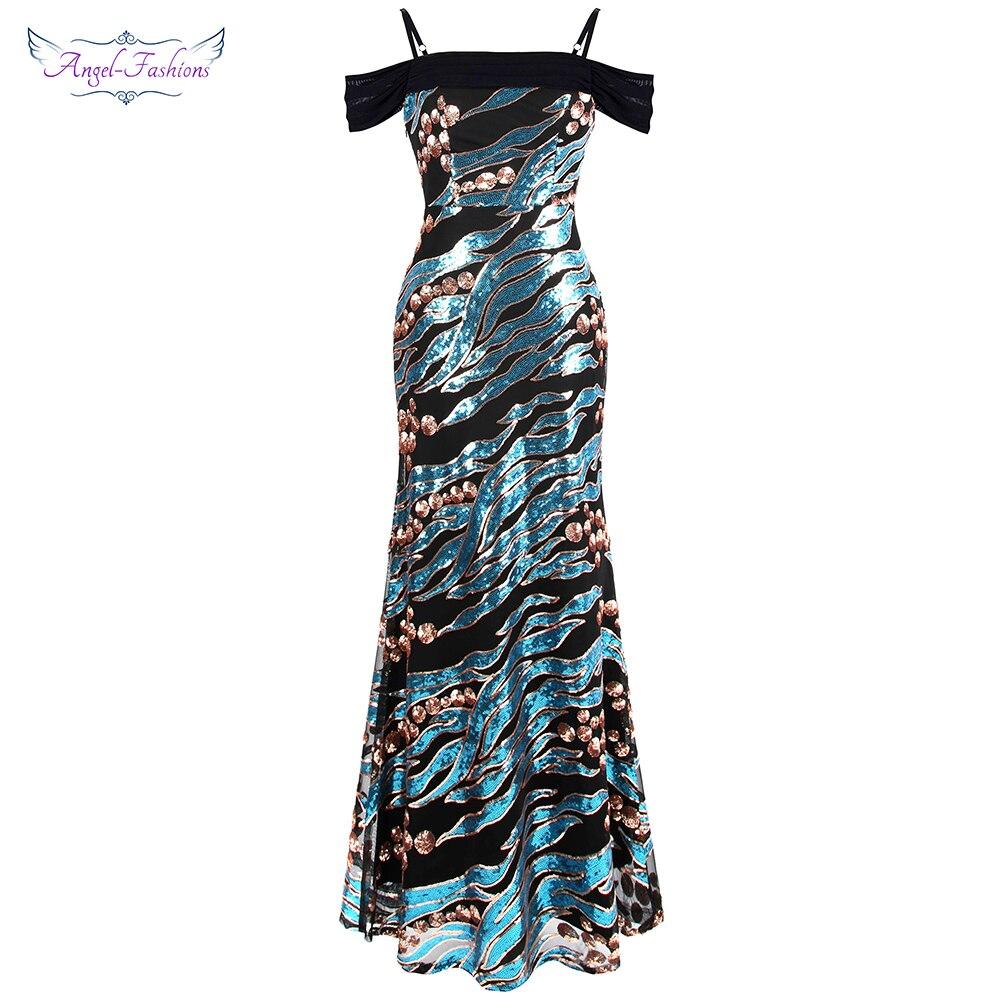Angel-моды Для женщин Винтаж платья для выпускного вечера арт-деко блесток узор Лодка шеи вечерние платье 392