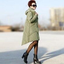 Army Green Winter Jacket Women Korean Big Size Warm Ultra Light Women Duck Down Coat Hooded Thick Parka Women Jackets 4XL 5XL