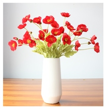 WHOLSALE 40 pcs Beautiful Artificial flowers Poppy Stem Silk Flowers Home Wedding Decoration Gift цена