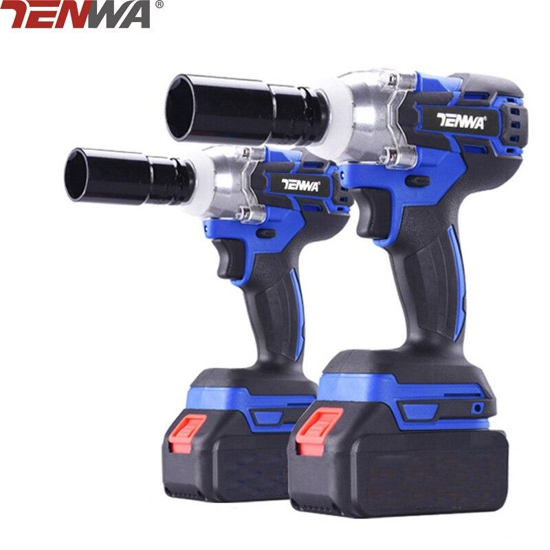 TENWA sin escobillas/eléctrica sin llave de impacto llave 21 V 4000 mAh Li batería de taladro de mano de instalación de herramientas