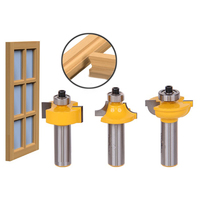 3pcs High Quality Glass Door Router Bits Set Round Over Bead 1 2 Shank Woodworking Cutter