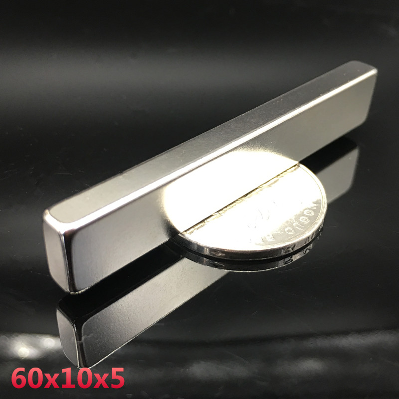1pcs magnet 60x10x5 mm Strong Rare Earth Block square Neodymium 60mmx10mmx5mm Permanent magnets 60*10*5 mm 1pc 30 x 20 x 10mm strong block cuboid rare earth neodymium magnets n50 permanent magnet powerful magnet square magnet