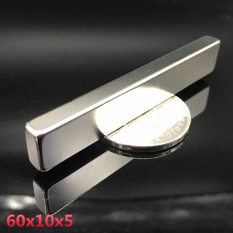 Neodymium מגנט 60x10x5 סופר חזק 1 pcs עגול מגנט נדיר earth 60*10*5mm ריתוך חיפוש חזק permanentgallium מתכת