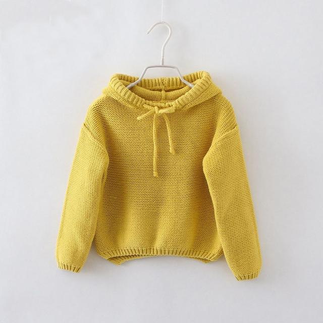Nuevos niños suéter de la manera 2 colores pullover con capucha chicos y niñas borlas sombrero ropa de bebé de alta calidad camisetas niños