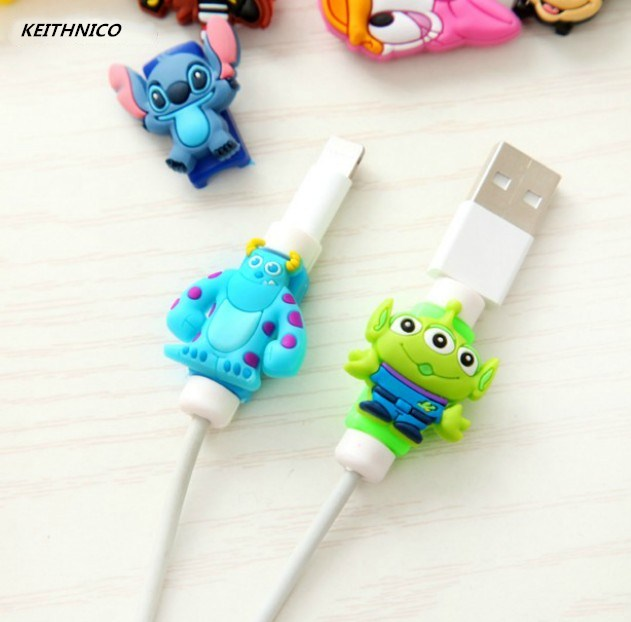 4Pcs Cable Protector Saver USB Charger Data Line Cord Protection Cover Sleeve Cable Winder for iPhone Charger Cable