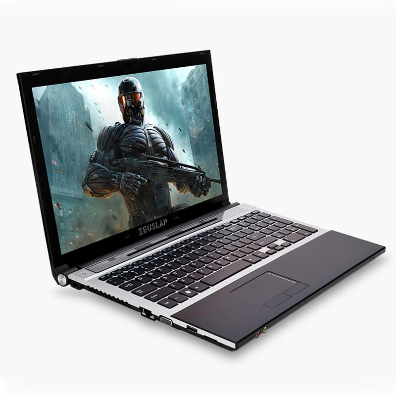 15.6 polegadas Intel Core i7 CPU 8 GB RAM + 240 GB SSD + 1 TB HDD Construído em WI-FI Bluetooth Windows 7/10 Computador Portátil Notebook DVD-ROM
