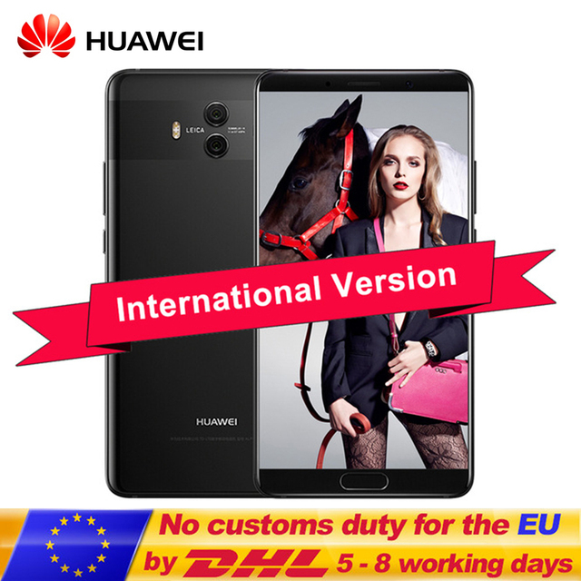 "Original International Firmware Huawei Mate 10 5.9""Android 8.0 Mobile Phone Dual Back Cameras 20MP Kirin 970 Octa Core in Stock"