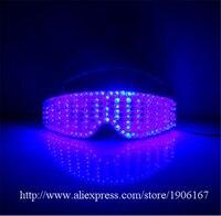 Новый Дизайн синий светодиод светящиеся партии Очки свет Хэллоуин Chirstmas очки DJ певица танцор этап Очки