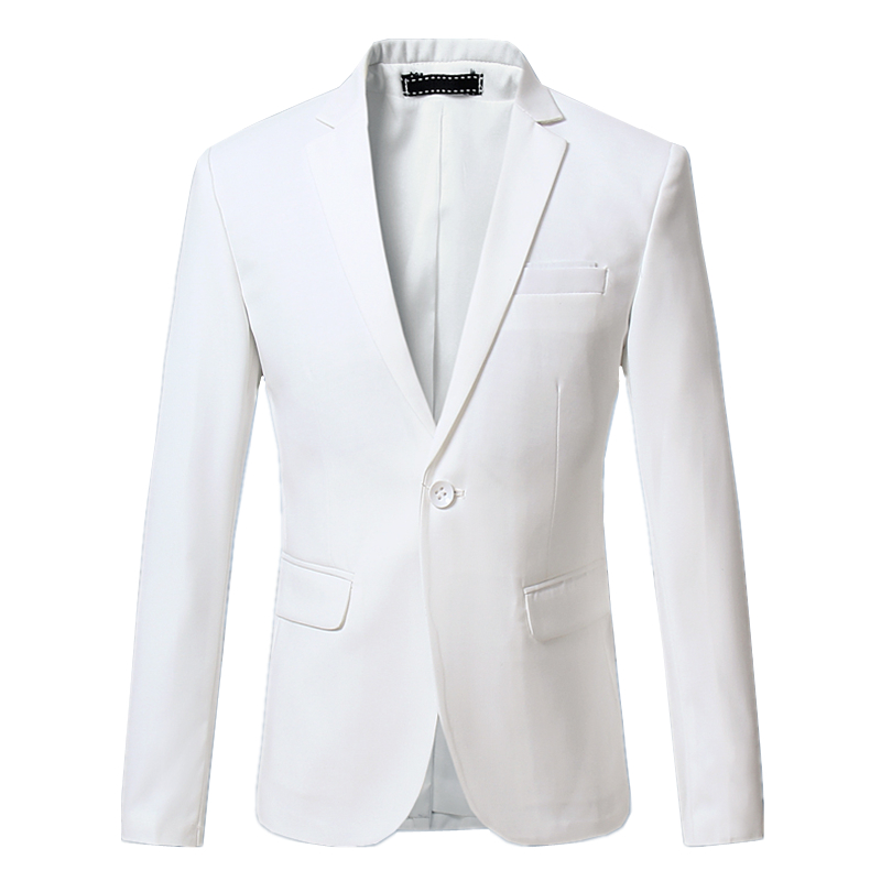2019 Mens Suit Jacket Size S-6XL Male Blazer Coat White Blue Black Gray Red