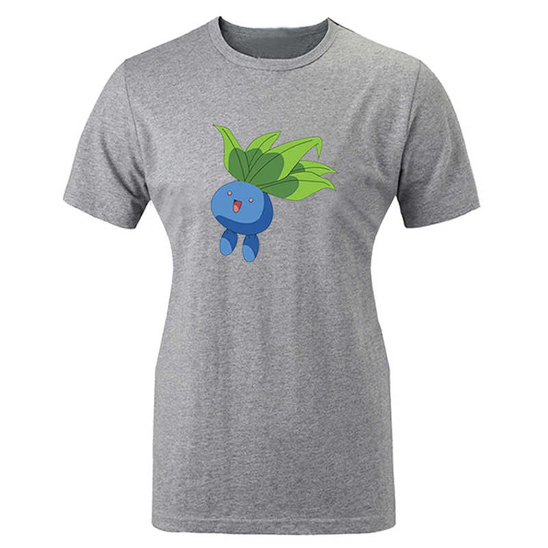 Pokemon Oddish Design Frauen Damen Druck T shirt Graphic Tee kurzarm Baumwolle T-shirts