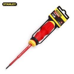 Stanley 1 stücke VDE 1000 v isolierte schlitz-schraubendreher 3mm 4mm 5,5mm 6,5mm 8mm 10mm mini lange große 1000 volt elektriker hand werkzeug