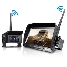 Цифровой Беспроводной комплект камеры с резервированием данных ЖК-дисплей монитор заднего вида IP69 Водонепроницаемый Ночное видение Обратный Cam