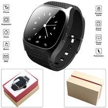 Dropshipping deporte M26 Bluetooth Smartwatch Podómetro Reloj Inteligente Con LED Alitmeter Reproductor de Música Para El Teléfono Inteligente Android