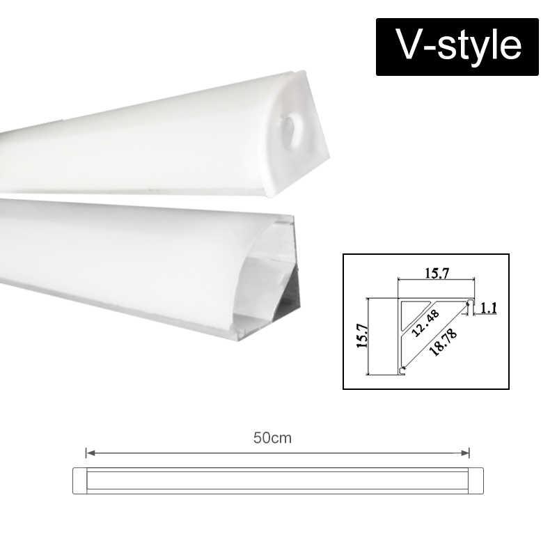 CLAITE 30 см x 45 см 50 см три Стиль U V YW алюминиевый профиль для светодиодной ленты для Светодиодный полосатый свет для бара комнатный светильник Кухня 1,8 см в ширину