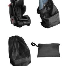 Черная переносная дорожная сумка для автомобильного сиденья для ребенка, детское автомобильное безопасное сиденье, защита от пыли, сумка для путешествий, сумка для коляски