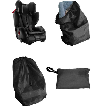 цена на Black Portable Car Seat Travel Bag for Baby Child Car Safety Seat Dust Protection Cover Bag Travelling Stroller Bag