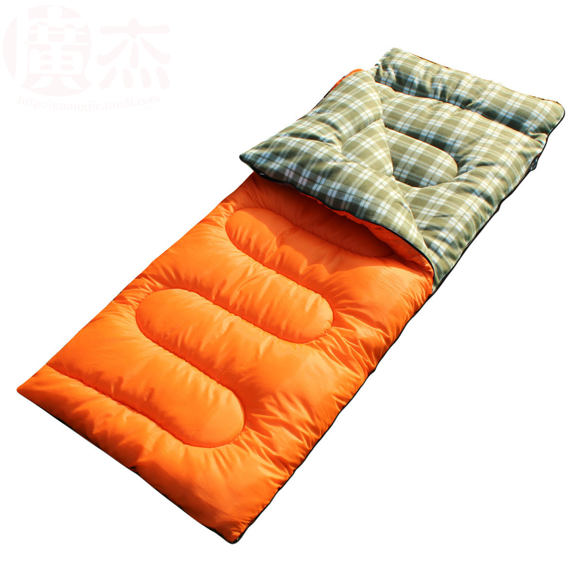 Outdoor camping sleeping bag spring summer autumn three season envelope sleeping bag can be splicing adult sleeping bag new brand envelop outdoor couple lover family camping sleeping bag adult three season indoor lunch break sleeping bag 2 1kg
