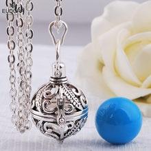 Eudora méxico harmonia bola carrilhão som bola bola medalhão gaiola pingente colar para mãe criança maternidade pingente bijoux pendulu