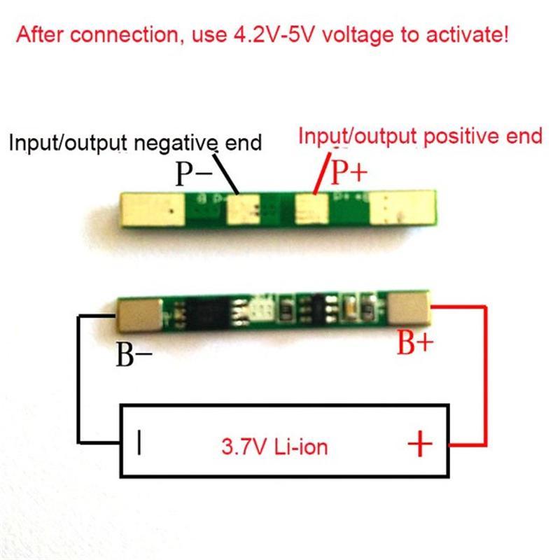 2 pièces/un lot 1 S 3.7 V 3A li-ion BMS PCM panneau de protection de batterie pcm pour 18650 batterie lithium ion li