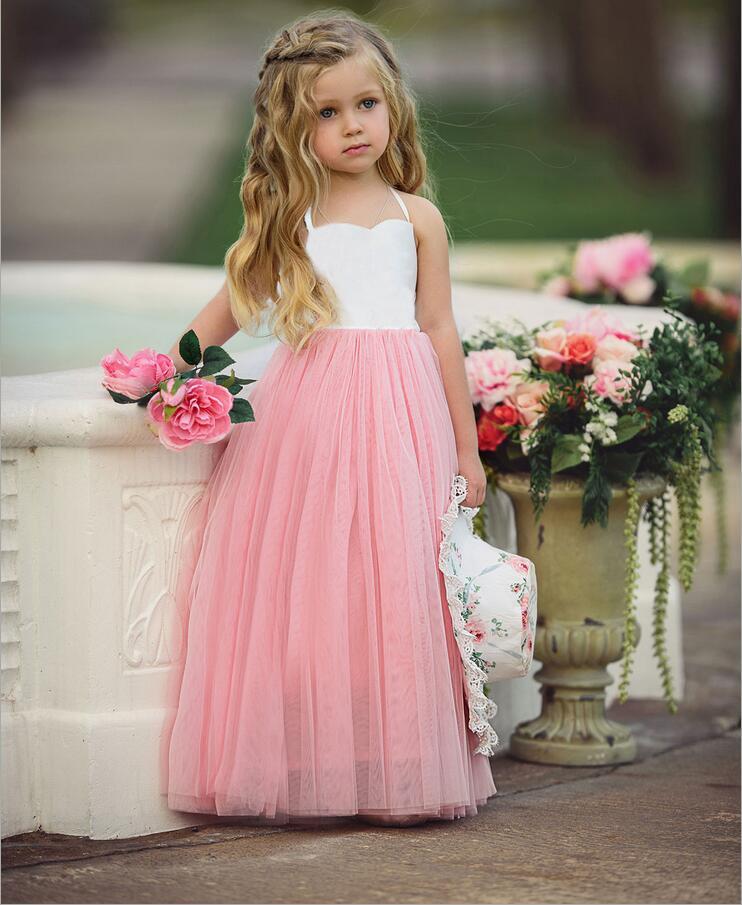 39d884e3fed5 HTB1T3OKSpXXXXXWaXXXq6xXFXXX6 - elegant baby girls sling mesh tulle dress  children girls ankle length long dresses ins
