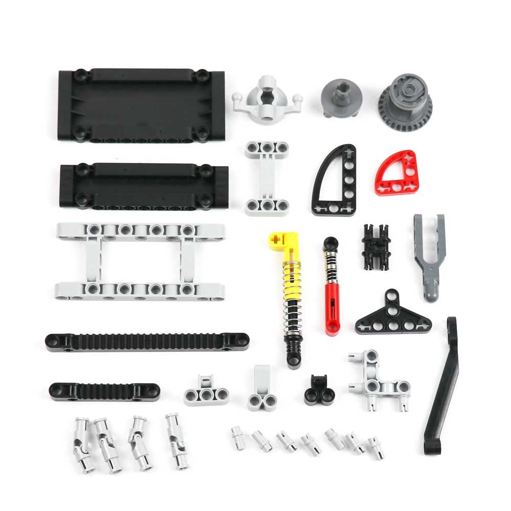 Bulk Technic Block Parts Kit Panels Differential Gear Hard Spring Fit Car Toys Compatible Legoes MOC Technic Building Bricks Set