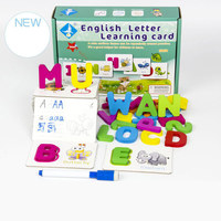 Children English Letter Learning Card English alphabet word cognitive toys Baby literacy card enlightenment Toys Kids Gifts